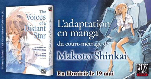 El manga The Voices of a Distant Star de Makoto Shinkai y Mizu Sahara en Pika